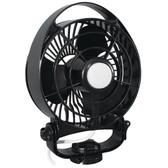 "Caframo Maestro 12V 3-Speed 6"" Marine Fan w/LED Light - Black"