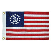 "Taylor Made 12"" x 18"" Deluxe Sewn US Yacht Ensign Flag"