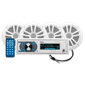 "Boss Audio MCK632WB.64 Package w\/MR632UAB AM\/FM CD Receiver; 2 Pair of 6.5"" MR6W Speakers  MRANT10 Antenna"