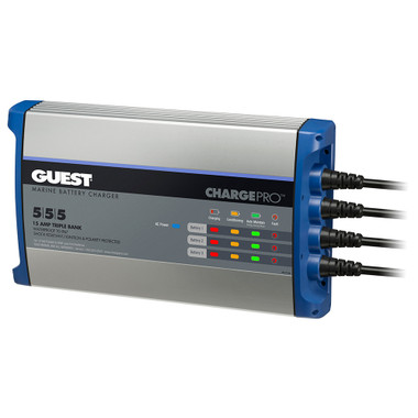 Guest On-Board Battery Charger 15A \/ 12V - 3 Bank - 120V Input