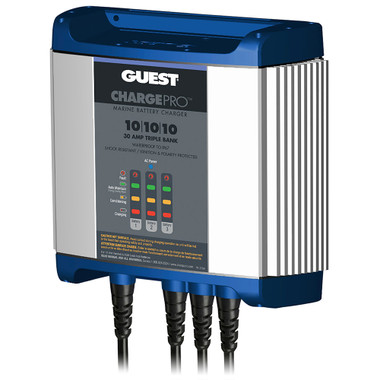 Guest On-Board Battery Charger 30A \/ 12V - 3 Bank - 120V Input