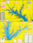 Fishing Map (With GPS) - Hook-N-Line F-114 Richland-Chambers Reservoir & Lake Fairfield