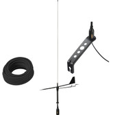Glomex Black Swan VHF Antenna w\/Wind Indicator  66 Coax Cable