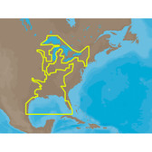 C-MAP MAX NA-M023 - U.S. Gulf Coast & Inland Rivers - SD Card