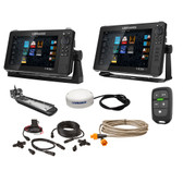 "Lowrance HDS Live Bundle - 9""  12"" Display AI 3-In-1 T\/M Transducer, Point 1 GPS Antenna, LR-1 Remote  Cabling"