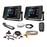 "Lowrance HDS Live Bundle - 2 -12"" Displays, AI 3-In-1 T\/M Transducer, Point 1 GPS, LR-1 Remote  Cabling"