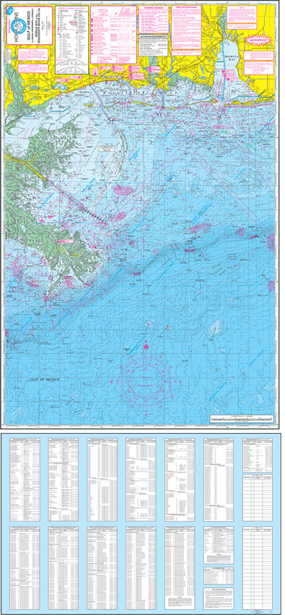 Fishing Map (With GPS) - Hook-N-Line F-129 Gulf of Mexico Offs ... on