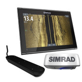 Simrad GO12 XSE Chartplotter Radar Bundle HALO20+  Active Imaging 3-in-1 Transom Mount Transducer  C-MAP Discover Chart
