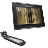 Simrad GO9 XSE Chartplotter\/Fishfinder w\/Active Imaging 3-in-1 Transom Mount Transducer  C-MAP Discover Chart