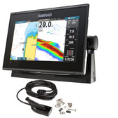Simrad GO9 XSE Chartplotter\/Fishfinder w\/MED\/HI Downscan Transom Mount Transducer  C-MAP Discover Chart