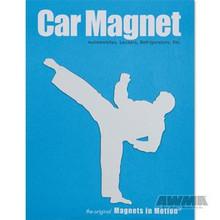 AWMA® Martial Arts Magnet - Male Kicker White