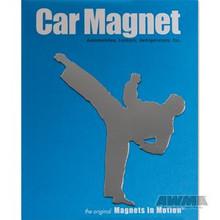AWMA® Martial Arts Magnet - Male Kicker Silver