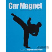 AWMA® Martial Arts Magnet - Male Kicker Black