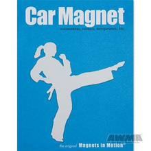 AWMA® Martial Arts Magnet - Female Kicker White