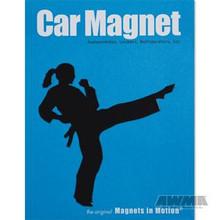 AWMA® Martial Arts Magnet - Female Kicker Black