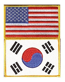 Century® US/Korea Flag Patch
