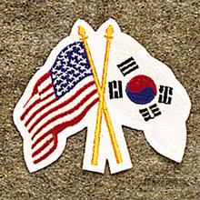 AWMA® USA/Korea Crossed Flags Patch