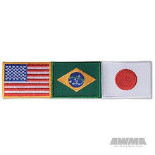 AWMA® USA/Brazil/Japan Patch - Small