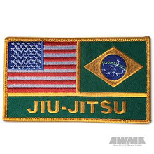 AWMA® USA/Brazil Jiu-Jitsu Flags Patch