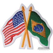 AWMA® USA/Brazil Crossed Flags Patch