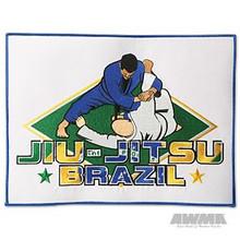 """AWMA® Brazilian 12"""" Jiu-Jitsu Patch - White"""