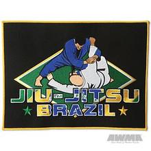 """AWMA® Brazilian 12"""" Jiu-Jitsu Patch - Black"""