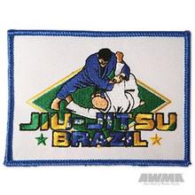 """AWMA® Brazilian 4"""" Jiu-Jitsu Patch - White"""