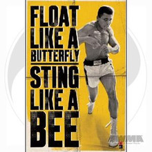 """AWMA® Muhammad Ali's """"Float Like A Butterfly"""" Poster"""