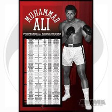 "AWMA® Muhammad Ali's ""Career Record"" Poster"