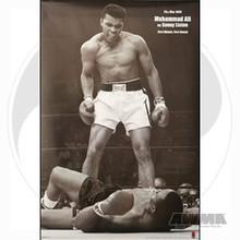 """AWMA® Muhammad Ali's """"Ali vs Liston"""" B&W Poster"""