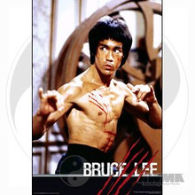 AWMA® Bruce Lee Giant Fight Poster