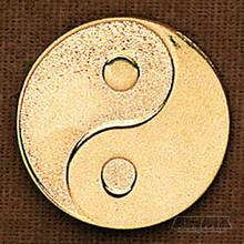 AWMA® Gold Yin Yang Pin