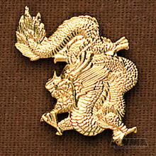 AWMA® Gold Dragon Pin