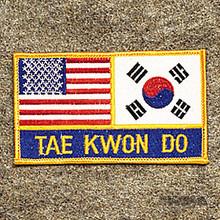 AWMA® USA & Korea - Tae Kwon Do Patch
