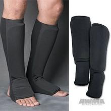 AWMA® ProForce® Combination Cloth Shin/Instep Guards - Black