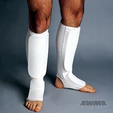 AWMA® ProForce® Combination Cloth Shin/Instep Guards - White