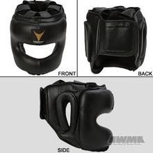 AWMA® ProForce® Thunder™ Leather MMA Head Guard - Black