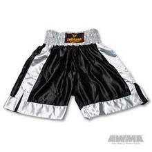 AWMA® ProForce® Thunder Satin Boxing Trunks - Black/Grey
