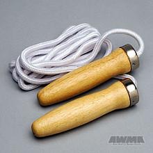 AWMA® Hardwood Handle Jumprope - Nylon Cord