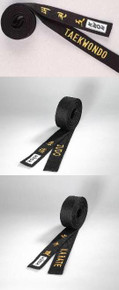 KWON® Pre-Embroidered Black Belts