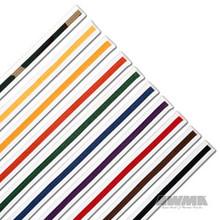 AWMA® ProForce® Single Wrap Striped White Belts