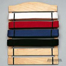 AWMA® Karate Belt Display Wood Rack - 6 Belts