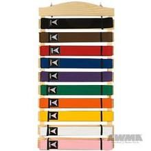 AWMA® Karate Belt Display Wood Rack - 10 belts