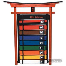 AWMA® 10 Level Karate Belt Display - Wall Mount