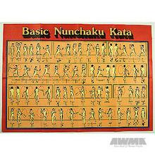 AWMA® Basic Nunchaku Kata Poster