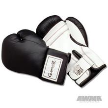 AWMA® ProForce® Gladiator™ Leatherette Boxing Gloves - Black/White