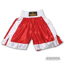 AWMA® ProForce® Thunder Satin Boxing Trunks - Red/White