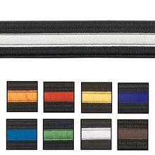 Century® Double Wrap Striped Black Belts