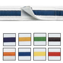 Century® Adjustable Striped White Belt