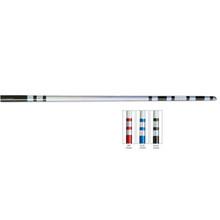 Century® Chrome Taped White Wood Lotus Bo Staff - Tapered
